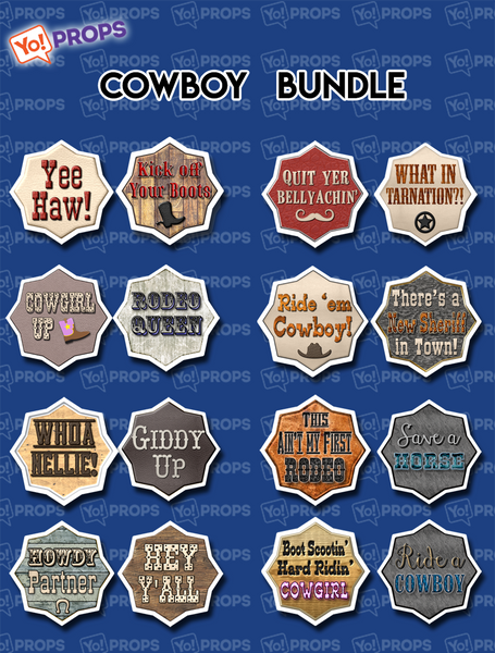 Cowboy Bundle of (8)