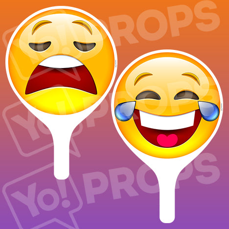Emoji 2.0 Prop - Crying Face / Laughing Face