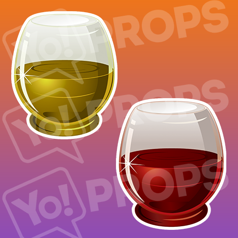"Drinking Prop – ""White Wine / Red Wine cup"