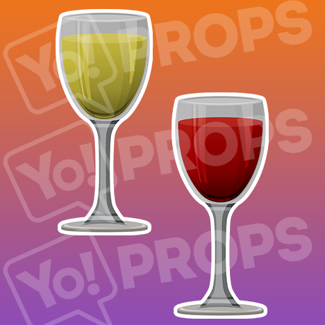 "Drinking Prop – ""White Wine Glass / Red Wine Glass"""