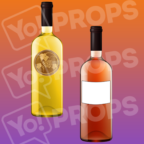"Drinking Prop – ""Red Wine Bottle / White Wine Bottle"""