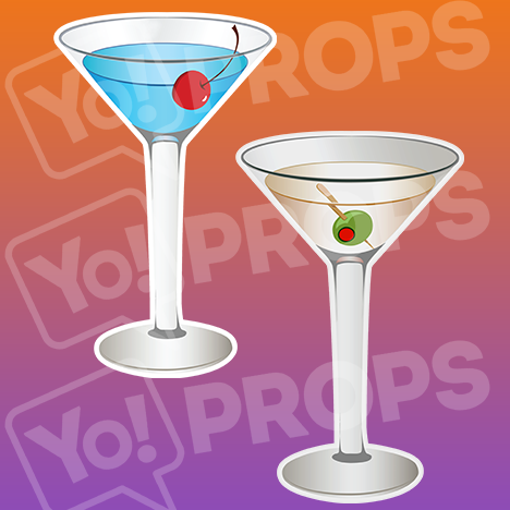 "Drinking Prop – ""Martinis"""