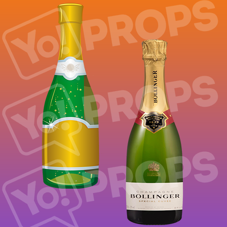 "Drinking Prop – ""Champagne Bottles"""