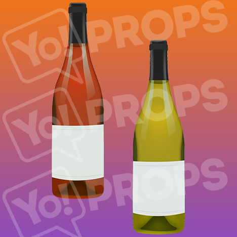 "Drinking Prop - ""Bottles of Wine"""