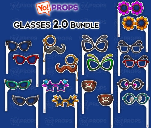 A Set Of (9) Glasses On A Stick – The Glasses 2.0 Bundle