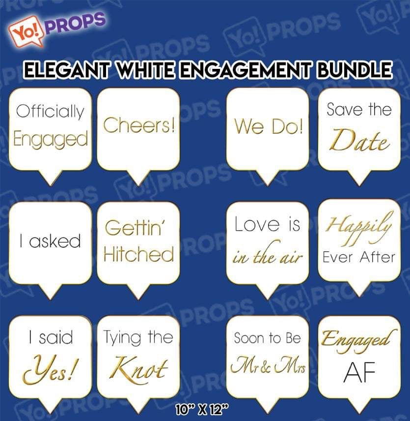 A Set Of (6) Elegant Engagement Bundle