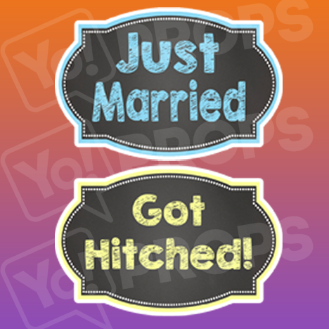 Just Married/ Got Hitched Chalkboard Sign