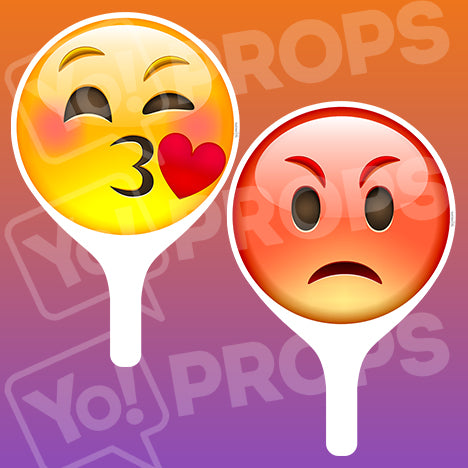 Emoji 2.0 Prop - Kiss Face / Angry Face