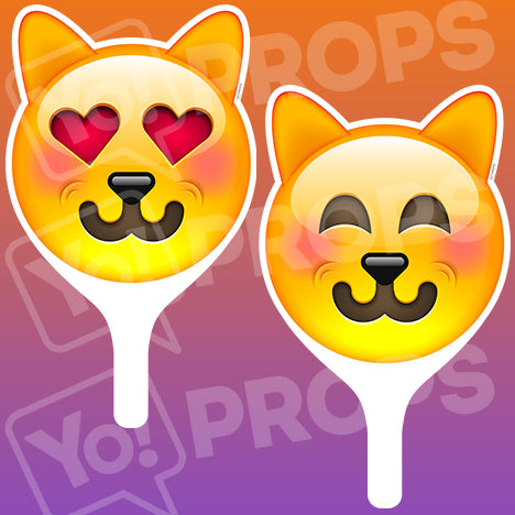 Emoji 2.0 Prop - Love Cat Face / Happy Cat Face