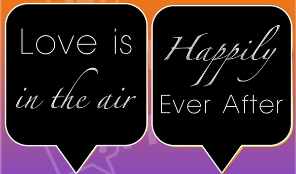 Love is in the Air / Happily Ever After Black Engagement Prop