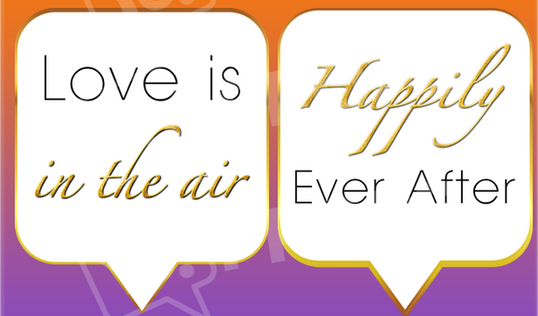 Love is in the Air / Happily Ever After White Engagement Prop