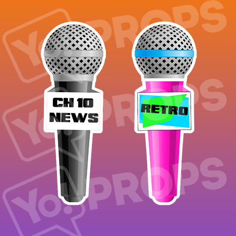 Prop - Microphone (CH 10 News and Retro)