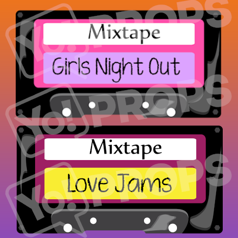 Retro - Mix Tape (pink/red)