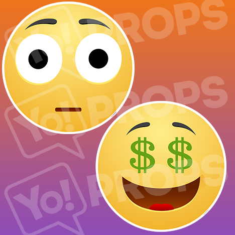 Emoji Face #7: Bug-Eyed Face – Money Face