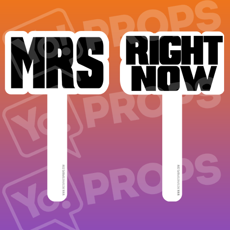 Wedding Stick Prop – Mrs / Right Now Sticks
