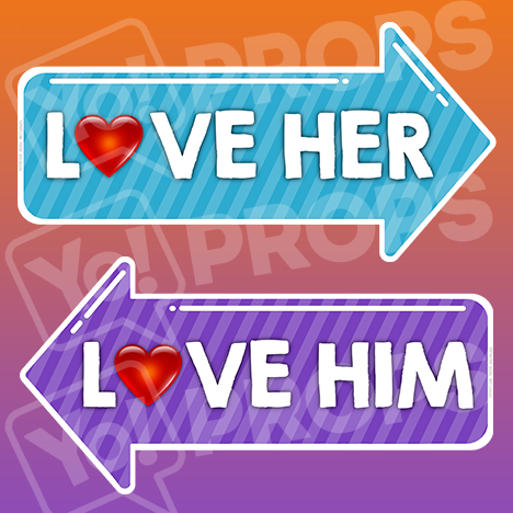 "Pointing Bundle - ""Love Her"" And ""Love Him"""