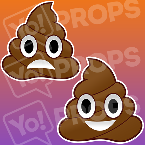 Emoji Face #6: Happy Poop – Sad Poop