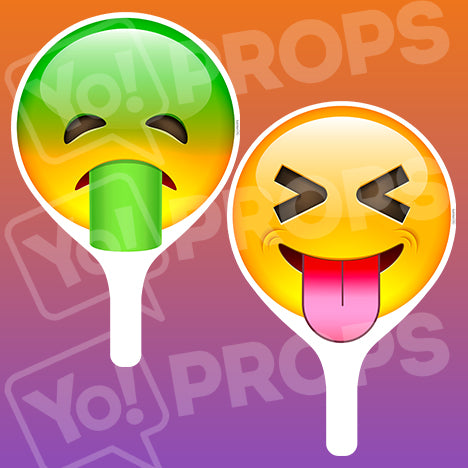 Emoji 2.0 Prop - Puking Face / Tongue Out Face