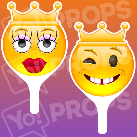 Emoji 2.0 Prop - Queen Face / King Face