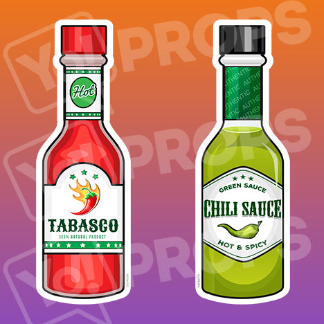 Fiesta Props – Tabasco / Green Chili Bottle