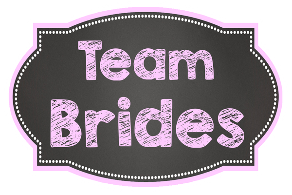 LGBT Chalkboard Wedding - I'm her Mrs / Team Brides