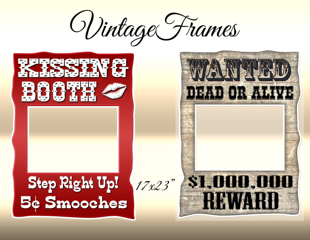Vintage Wanted/Kissing Booth Frame