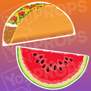 Food prop – Watermelon/Taco