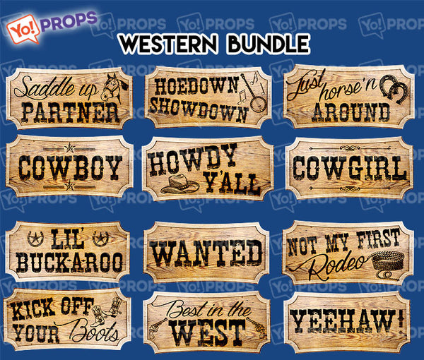 A Set of (6) Western Bundle