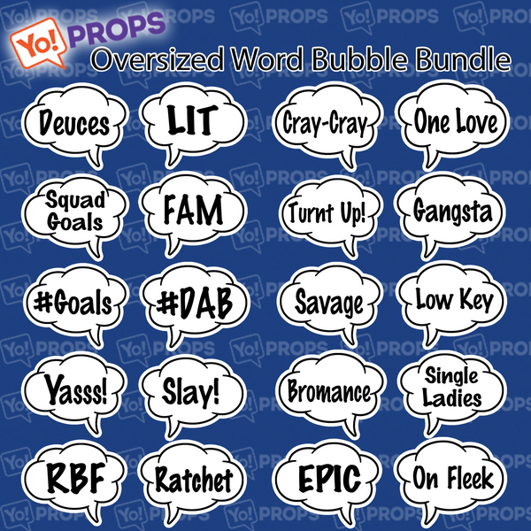 Oversized Word Bubble Slang Bundle of (10)