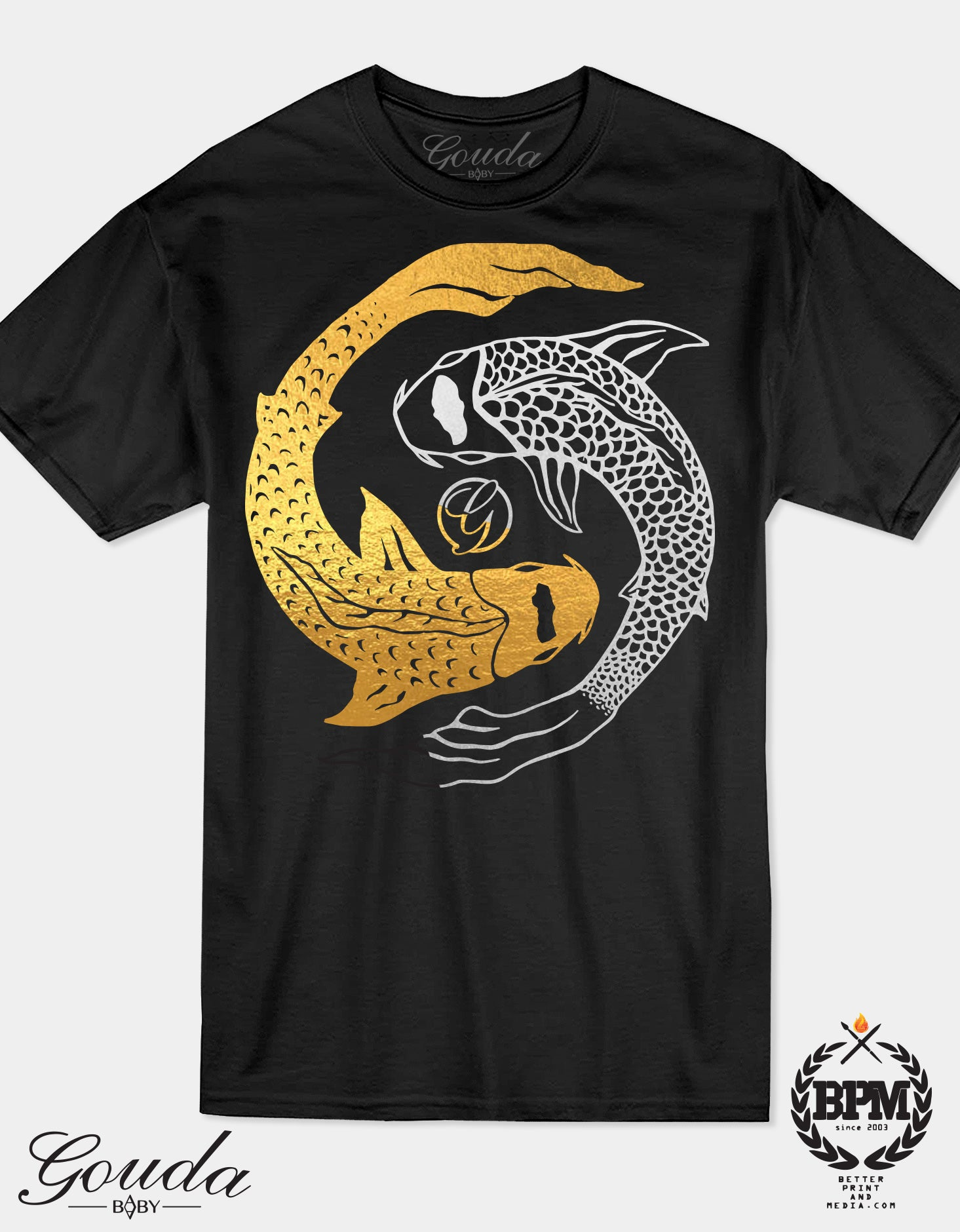YinCoi Gold and Silver Foil Goudababy T shirt