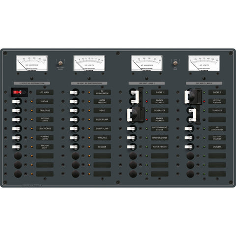 Blue Sea 8086 AC 3 Sources +12 Positions / DC Main +19 Position Toggle Circuit Breaker Panel  (White Switches) for $1356.99 at First Choice Premier Tackle, Inc.