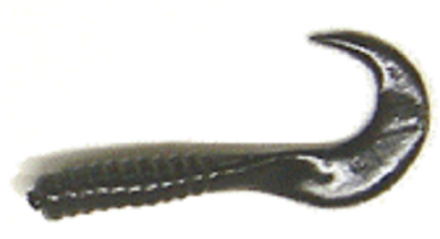 "Action Baits 3"" Curly Grubs 25pk Black for $2.16 at First Choice Premier Tackle, Inc."