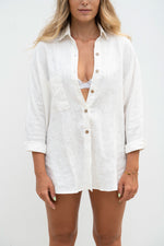 Flissa Long Sleeve Linen Shirt - Off White