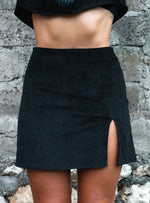 Courtney Cord Mini Skirt - Black