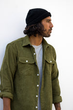 Lay Back Corduroy Shirt - Olive