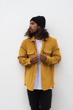 Lay Back Corduroy Jacket  - Mustard