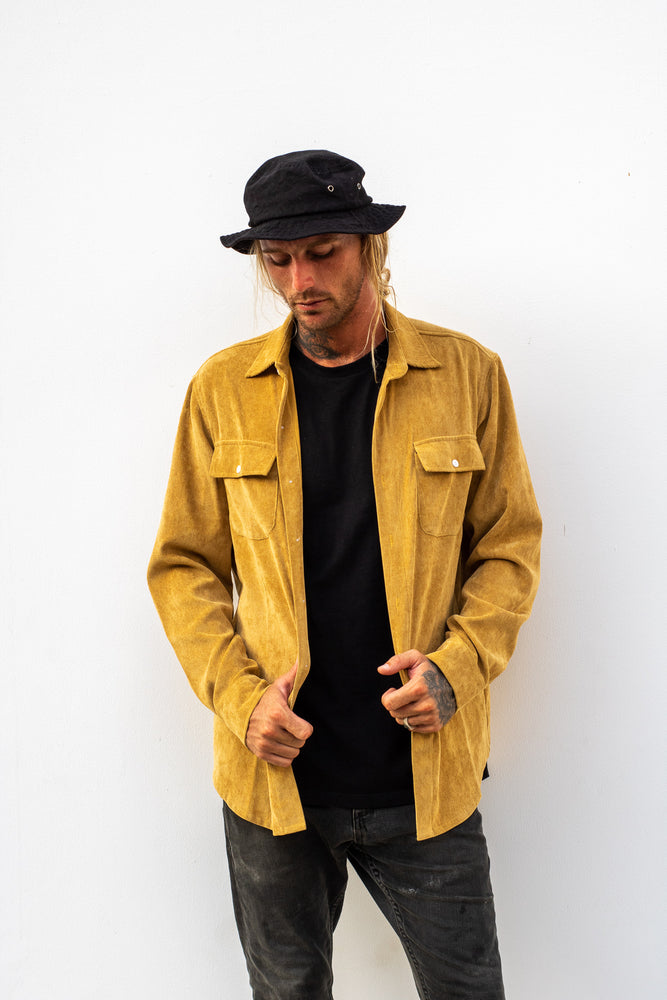 Lay Back Corduroy Shirt - Mustard