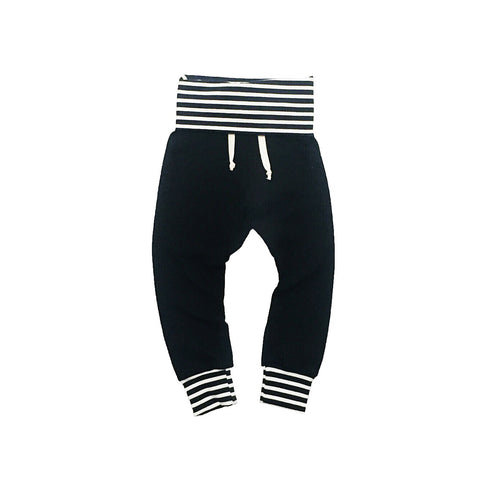 Black / Stripe Joggers