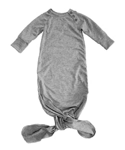 Baby Heather Grey Knotted Sleeper