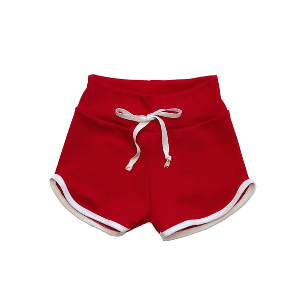 Baby & Toddler Red Retro Track Shorts