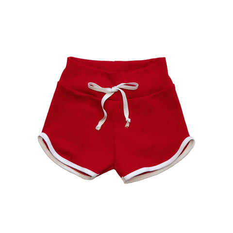 Red Retro Track Shorts