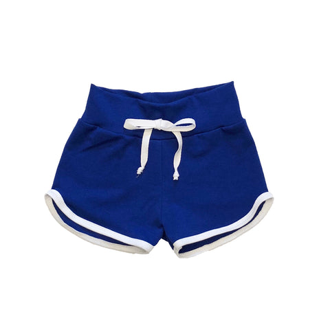 Blue Retro Track Shorts