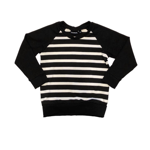 Black & White Stripe Raglan