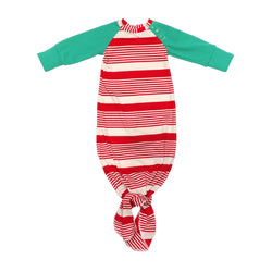 Candy Cane Knotted Sleeper w/ Green Sleeves