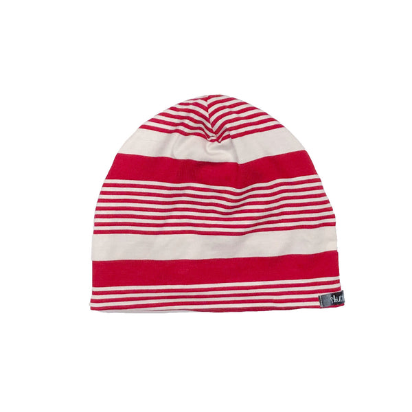 Candy Cane / Red Reversible Beanie