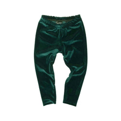 Green Velvet Leggings