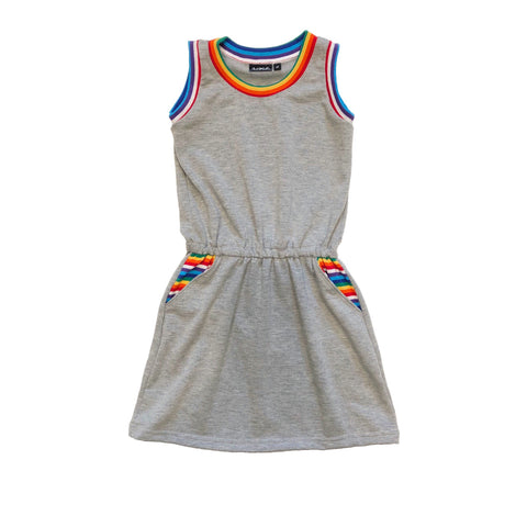 Retro Rainbow Pocket Dress