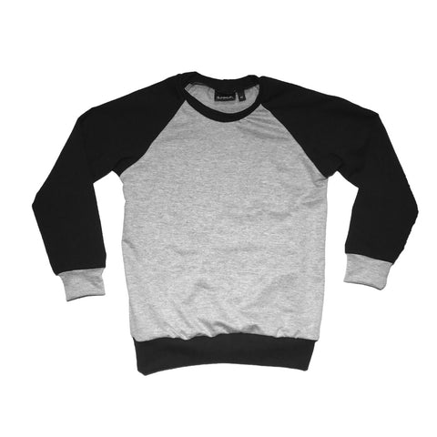 Black / Grey Raglan