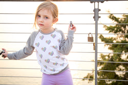Rainbow Heart Raglan