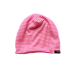 Pink and White Stripe Beanie